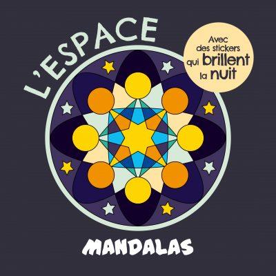 Mandalas l'espace avec des stickers phosphorescents