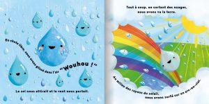 Page la petite goutte de pluie