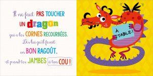 Page intérieure Il ne faut pas toucher un dragon