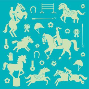 Page stickers phosphorescents Poneys et Chevaux