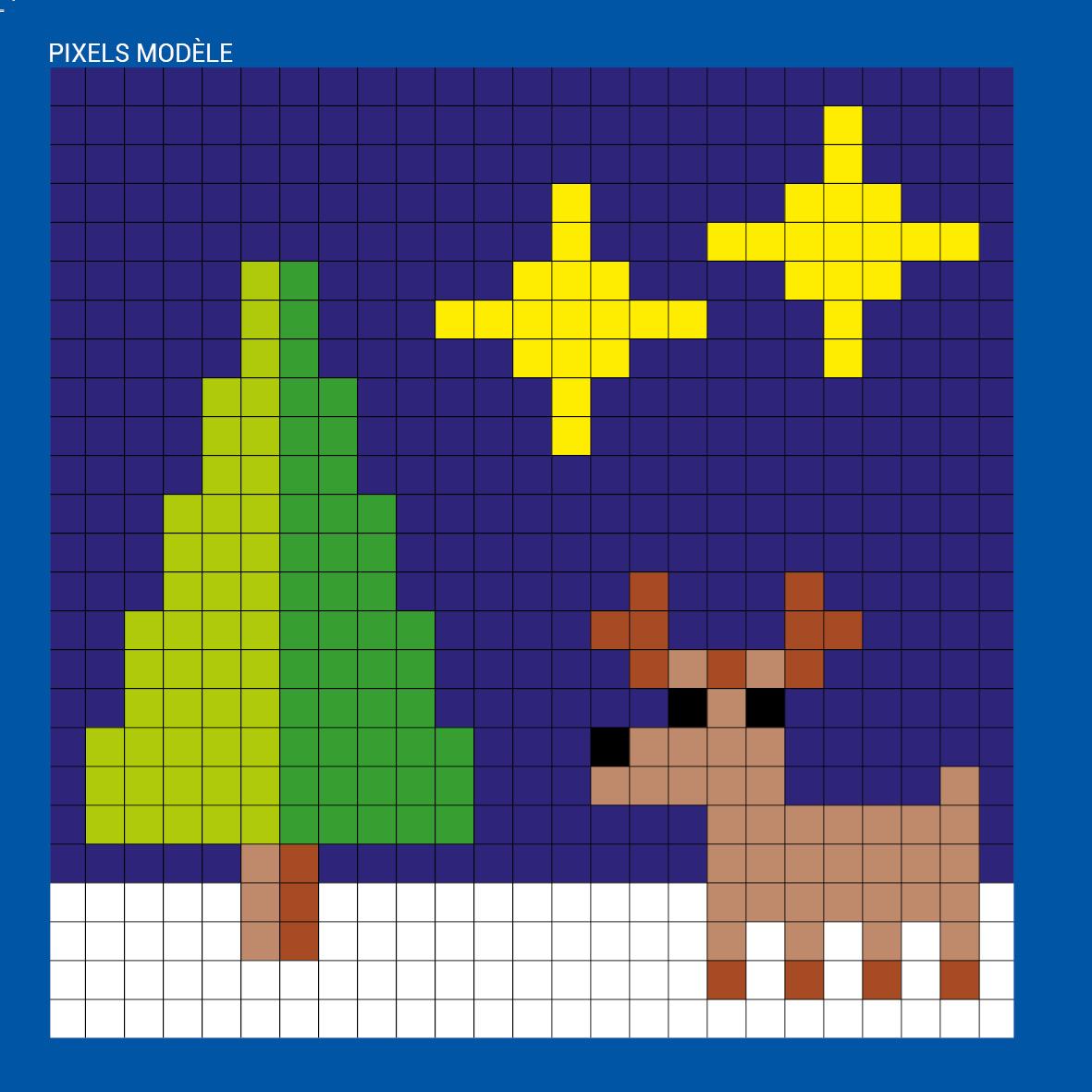 Mes Tableaux En Pixels Noël éditions 123 Soleil