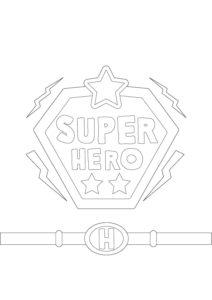 Coloriage super héro