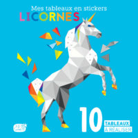 Mes tableaux en stickers – licornes