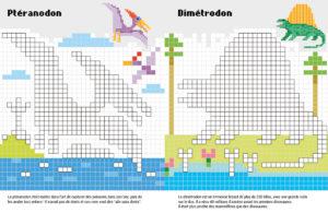 Pixels page dinosaures
