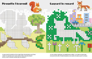 Pixel- page Animaux