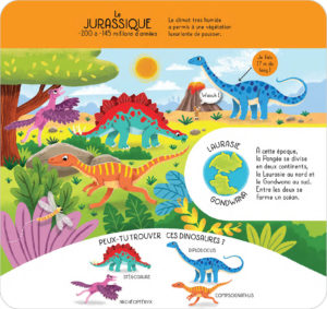 Atlas globe dinosaures