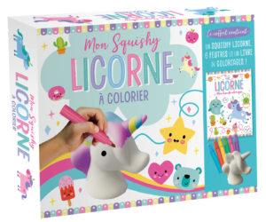 Squishy licorne coloriage