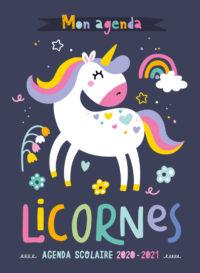 Mon agenda scolaire 2020 – 2021 -licornes