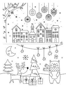 Mon coffret de feutres craie – dessiner sur les vitres – Noël