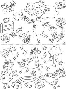 Mon coffret de feutres craie – dessiner sur les vitres – Licornes