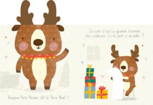 Petit renne aide le Père-Noël