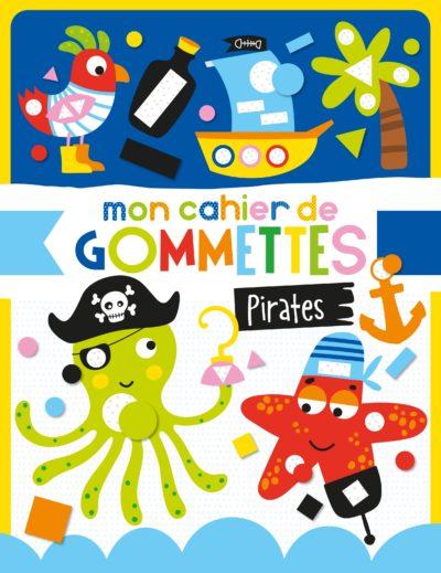 Mon cahier de gommettes - Les pirates