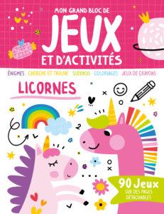 Mon bloc de jeux et activités - Licornes
