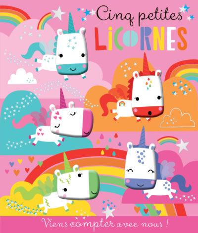 Viens compter avec nous ! Cinq petites licornes