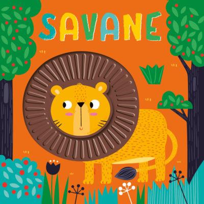 Livre à toucher en silicone - Savane