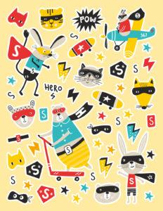 Mon cahier de stickers - Super-Héros