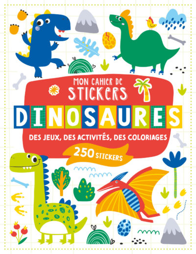 Mon cahier de stickers - Dinosaures