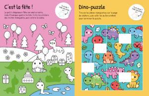 Mes stickers kawaii en relief - Dinosaures