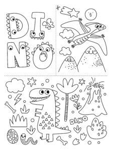 Coffret 4 feutres dessiner sur les vitres dinosaures